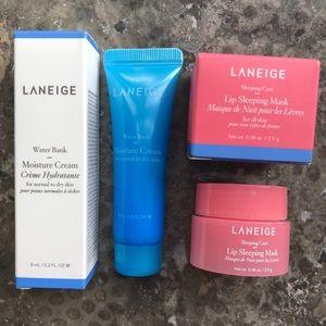 NWT Laneige Travel Moisture Cream + Lip Mask